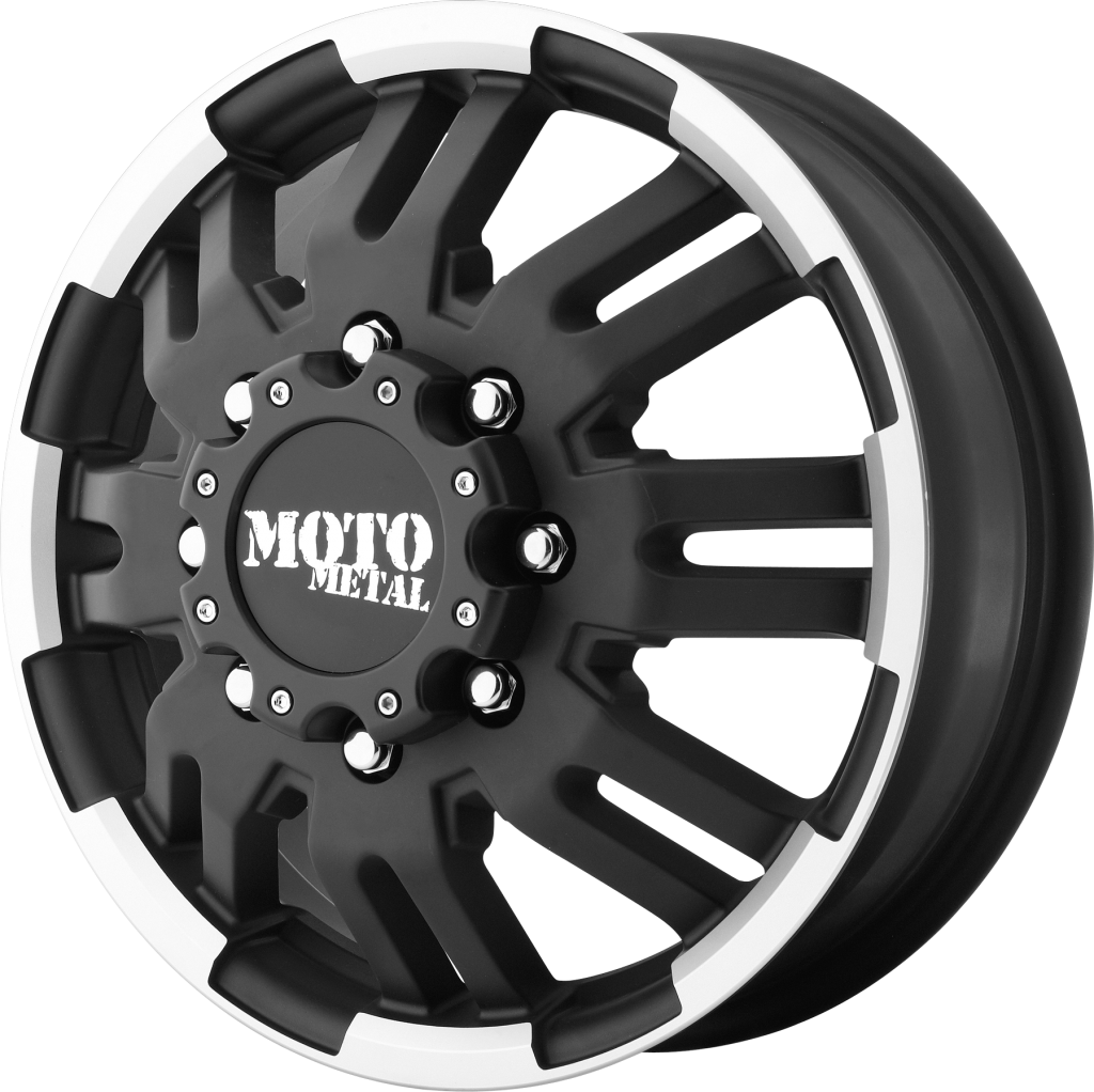 mo963 moto metal wheels 1998 F350 Dually mo963 matte black machined front